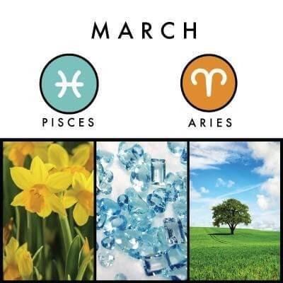 March birth symbols