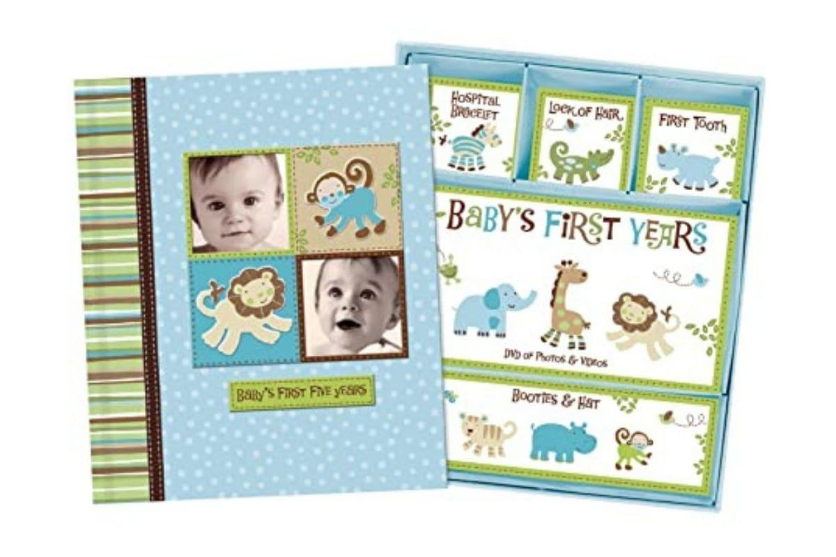 Baby Boy Hardcover Memory Book by Jenny and Jeff Designs