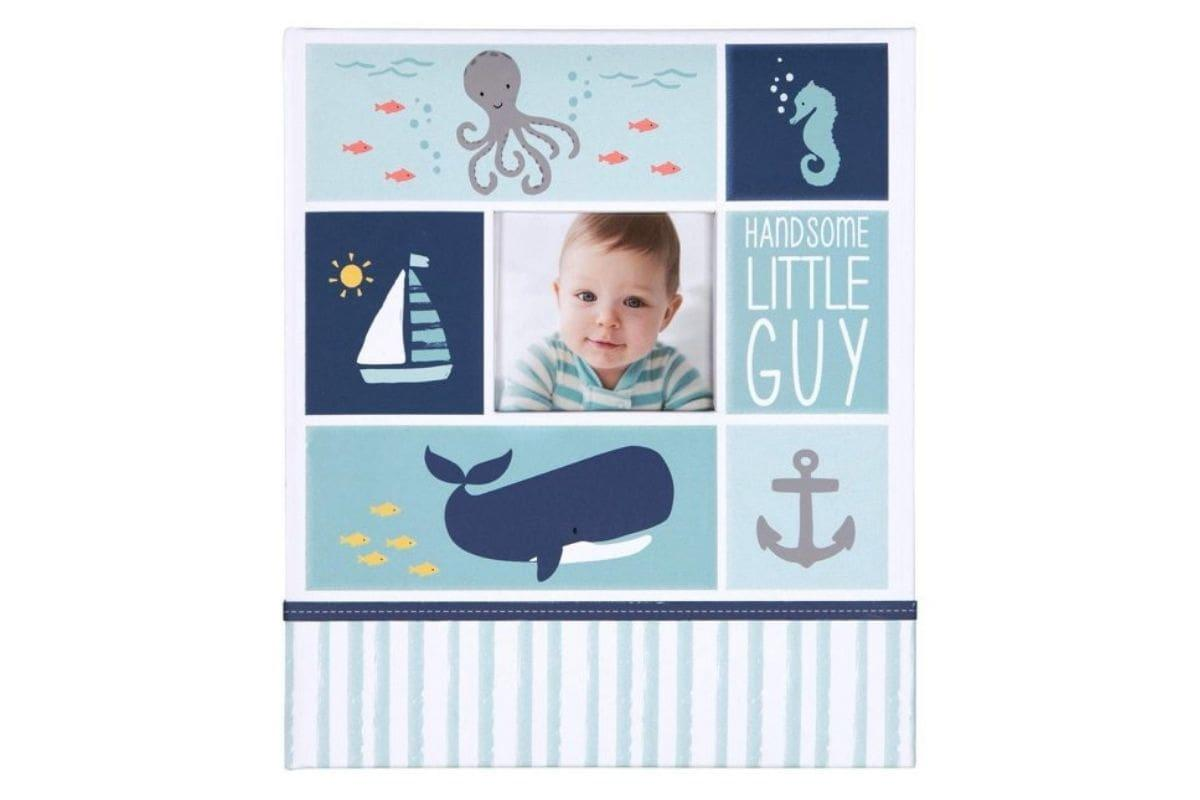 Carter's Blue Nautical My First Years Bound Memory Book for Baby Boys