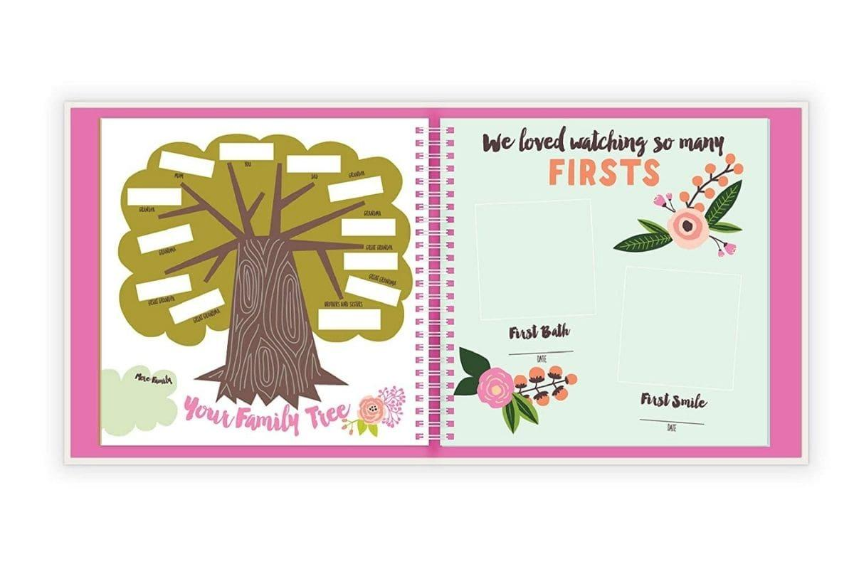 Baby's First Year Memory Book: A Simple Book of Firsts by Lucy Darling