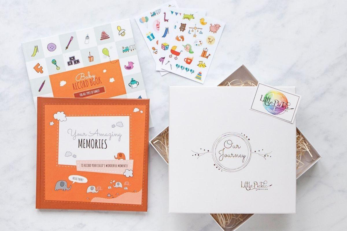 New Baby Books Gift Set, Baby Shower Gift by Little Pickle Memories