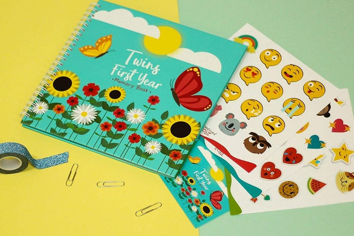 Twins First Year Memory Book by Unconditional Rosie