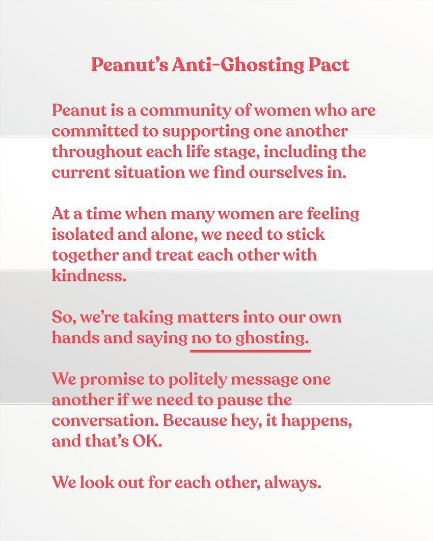 Peanut's Anti-Ghosting Pact