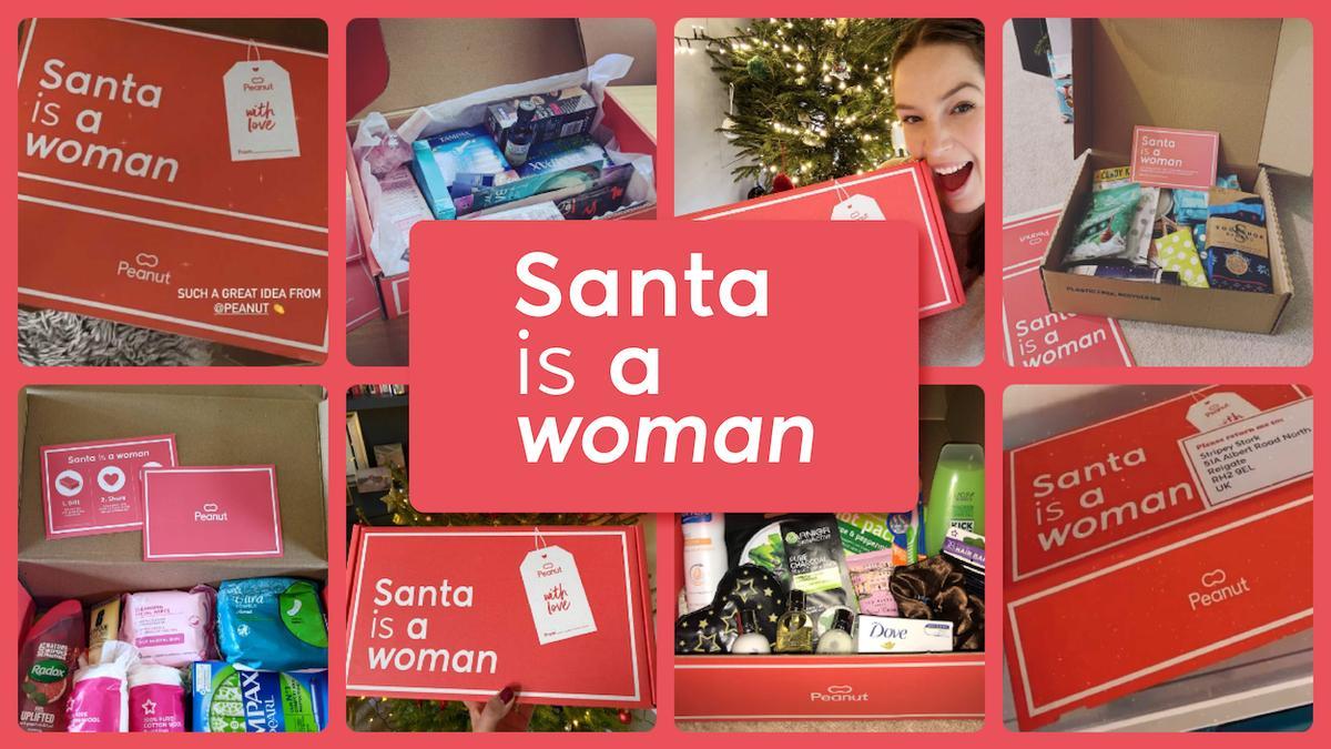 Peanut's Santa is a Woman
