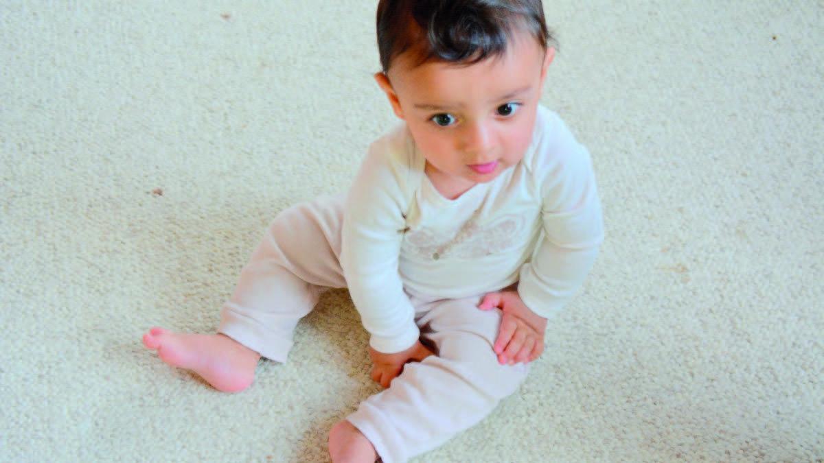 Baby sitting up