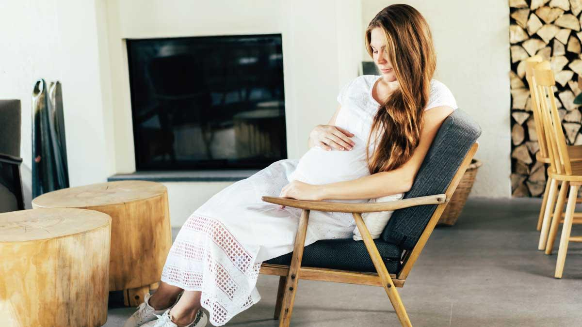 Woman at 36 weeks pregnant